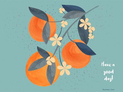 Have a good day! art design flat design flat lettering retro poster orange illustration vector graphic design