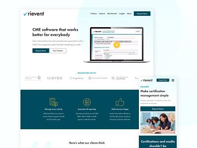 Rievent education icons tech website web design homepage web