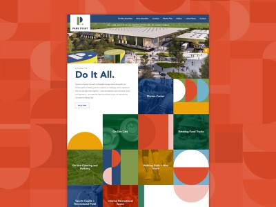 Park Point services pattern website web design web homepage
