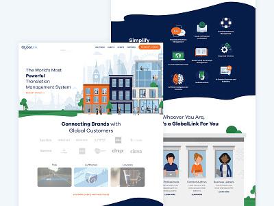 Translation Services Site tech illustration website web design web homepage