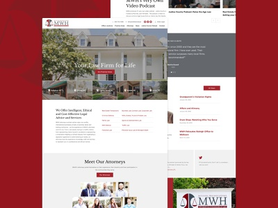 MWH lawyers attorney law website web design web homepage