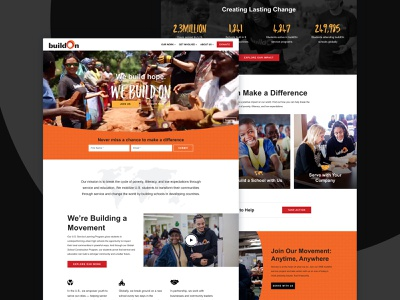 buildOn video non profit non-profit nonprofit website web design web homepage