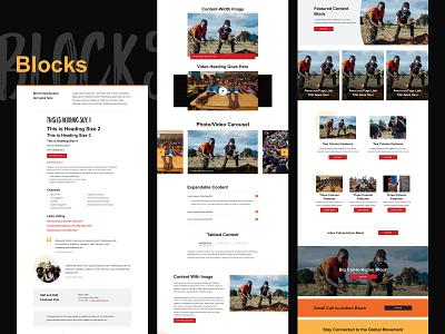 Blocks grid layout website web design web