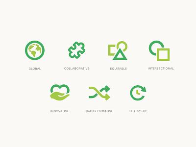 Icons non profit web design branding icons
