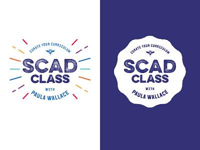 SCAD class color lockup logo education branding