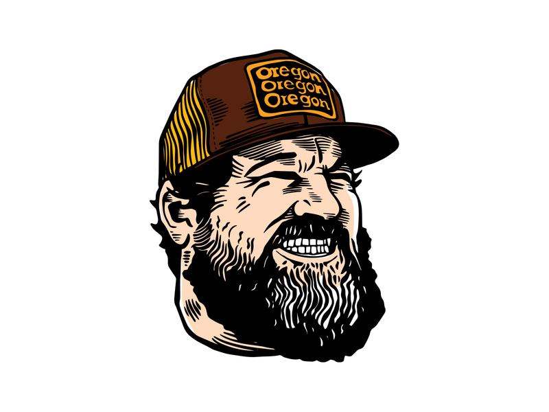 Aaron Draplin desinger portrait illustration portrait inspiration graphic designer design procreate for fun logodesinger aaron draplin vector illustration graphic design
