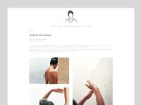 Website design for Rupi Kaur