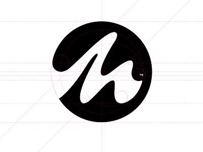 Making Waves Swim School symbol illustration graphic design swimming wave clean simple icon identity branding m negatives space movement vector illustrator curves symbol logo mark swim swim school