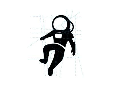 LAB B logo mark brand identity logo design coworking space astronaut modern design vector clean symbol illustration icon identity graphic design branding mark logo
