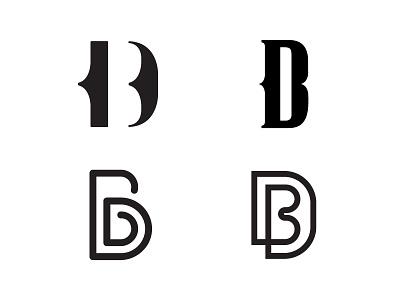 DB Logo Exploration concepts db clean icon typography branding identity graphic design vector monogram symbol mark logo