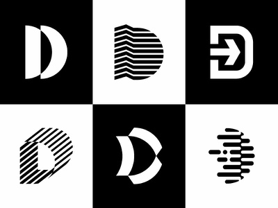 D Mark explorations research tech abstract logotype logomark brandmark experiment modern vector illustration icon identity branding graphic  design shapes simple mark logo symbol d