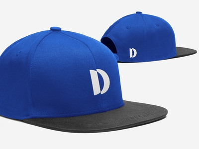 D Concept 1 Snapback Cap brand identity typography simple visual  identity hat snapback symbol abstract mark modern d letter mockup design contemporary icon identity logo graphic design clean branding