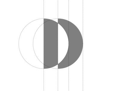 D Concept 1 Logo Grid brandmark modern circles typography design brand identity abstract simple contemporary vector illustration symbol mark icon identity logo graphic design clean logo grid branding