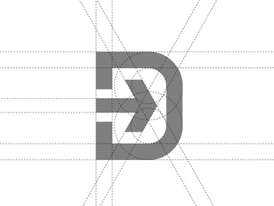 D mark concept 2 modern contemporary d letter brandmark simple android arrow abstract typography brand identity design vector symbol mark icon identity logo graphic design branding clean