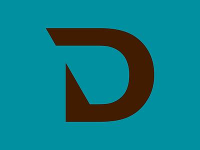 D Logo d letter logo d letter dlogo minimal logo flat icon design branding