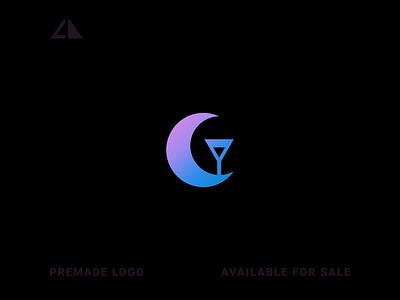 Moon Bar Logo icon letter logo monogram geometric design geometry flat logo design minimal branding
