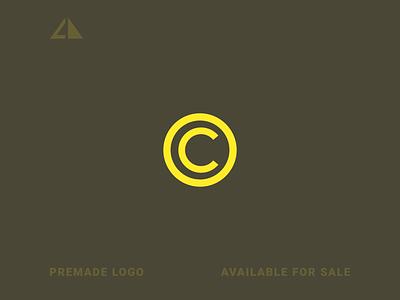 C Logo coin c logo monogram logo monogram letter logo geometric design geometry logo icon design minimal branding