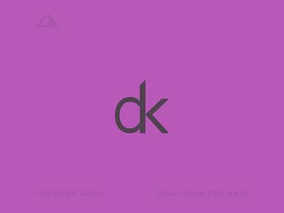 d + k Logo letter logo monogram geometric design geometry flat logo icon design minimal branding