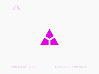 Triangle + Y Logo triangle geometric design monogram geometry flat logo icon design minimal branding