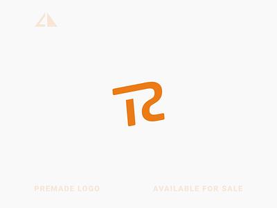 T + R Logo monogram logo letter logo geometric design flat geometry logo icon design minimal branding
