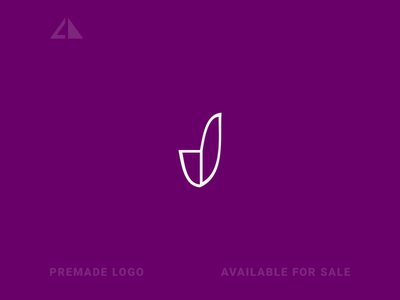 J Logo letter logo monogram logo monogram flat geometry logo icon design minimal branding