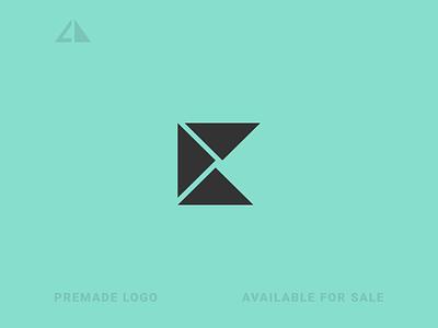 K Logo monogram letter logo geometric design flat geometry logo icon design minimal branding