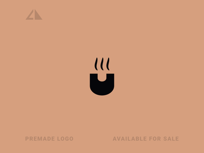 Coffee + u Logo coffe logo coffee letter logo monogram geometric design geometry flat logo icon design minimal branding
