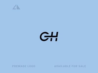 GH Logo monogram logo letter logo monogram geometric design geometry flat logo icon design minimal branding