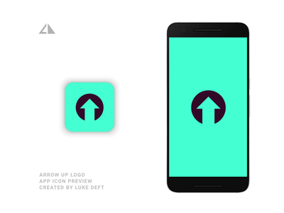 ArrowUP Logo App arrow a logo geometric design monogram geometry logo icon design minimal branding