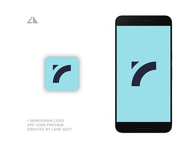 r Monogram Logo App monogram logo letter logo monogram geometric design geometry flat logo icon design minimal branding