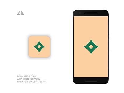 Diamond Logo App app diamond diamonf diamond logo app diamond logo app geometric design flat logo icon design minimal branding
