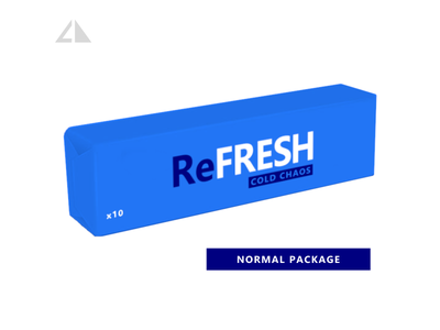 ReFRESH - normal package vector illustration geometry flat logo icon design minimal branding