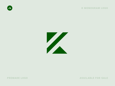 K Monogram Logo k monogram vector geometry logo icon design minimal branding