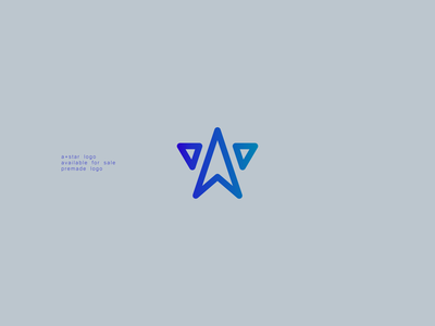 A + star Logo star star logo a logo icon minimal branding