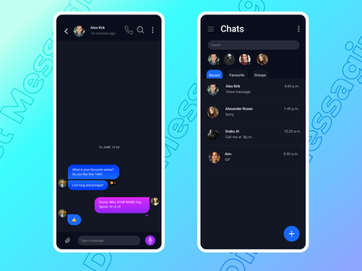 Message app - Direct Messaging Daily UI app ux message app chatting app design messaging dailyui 013 013 ui minimal messages dailyuichallenge dailyui