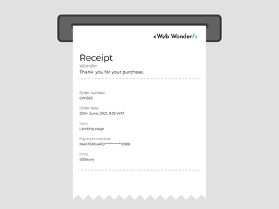 Email Receipt ui design e-commerce web dailyuichallenge receipt email 017 dailyui