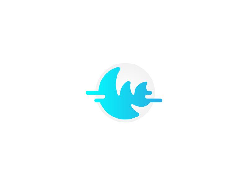 Warp logo letter digital icon logo
