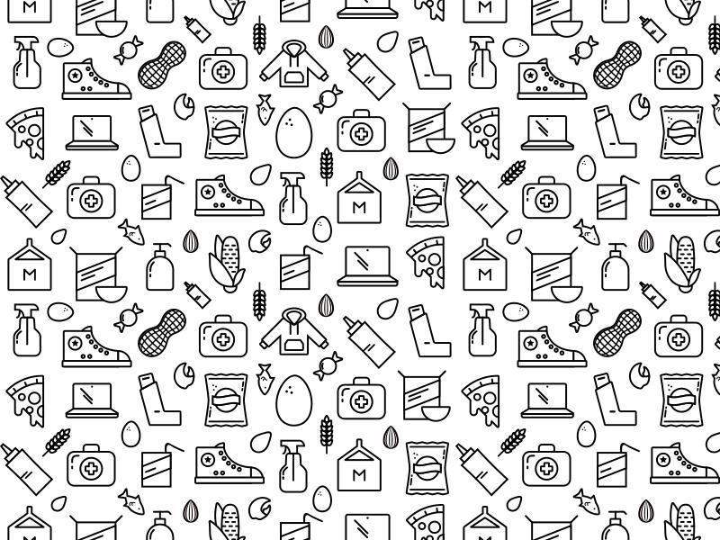 Remmy Pattern lifestyle food pattern icons