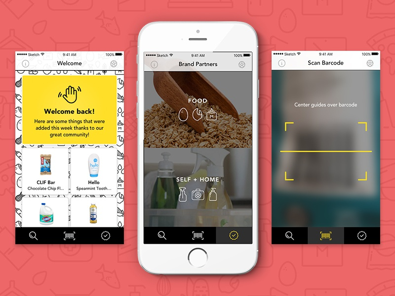 Remmy Screens mobile app allergy food