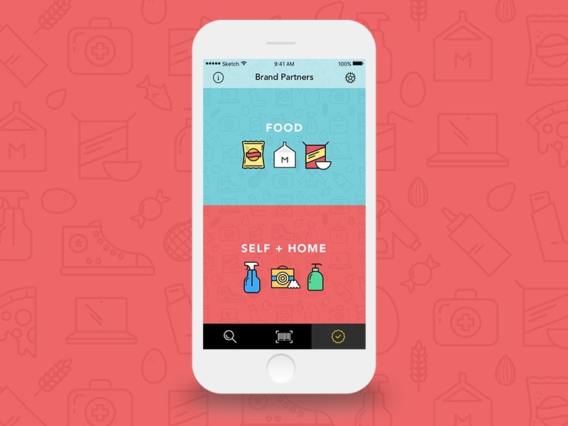 Remmy Screen - Vector food app mobile icons vector