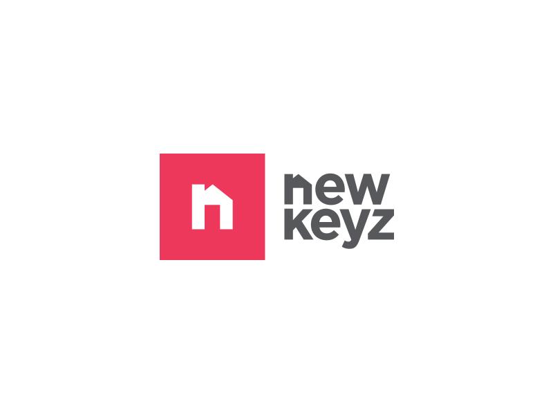NewKeyz Logo Concept icon vector logo keys house