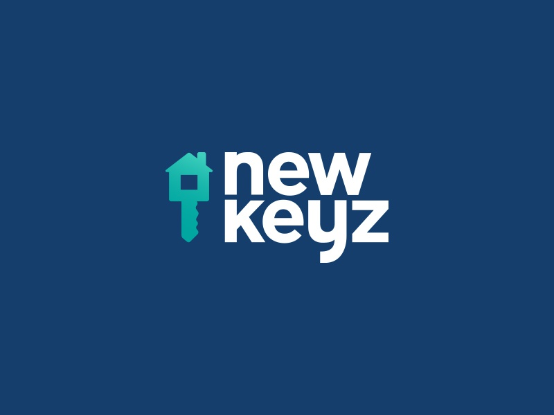 NewKeyz Logo icon key house vector logo