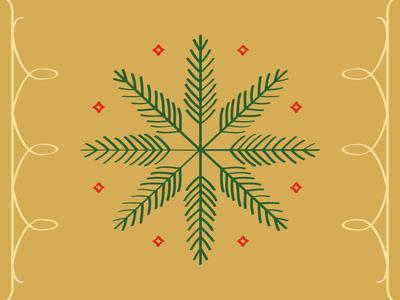 Sprig Snowflake