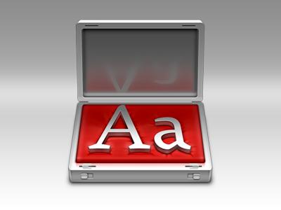 Fontcase 2 icon brief case mac font type set metal laurent baumann epic