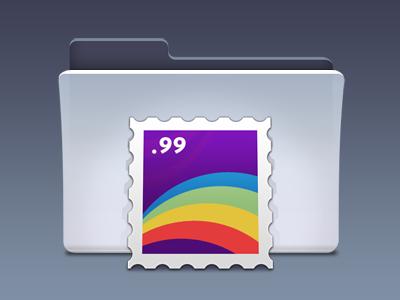 Zeu - Email icon set aqua teaser stamp apple classic