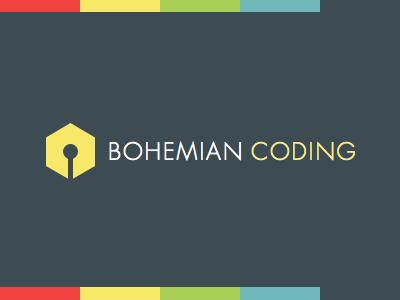 Bohemian Coding identity logo futura pen hexagon bohemian minimal