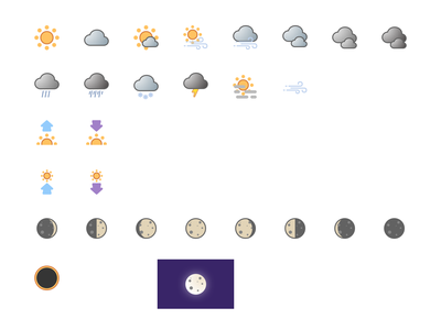Weather App Icon Set sketch weather app icon design icon set icons