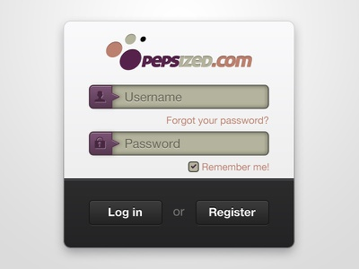 Login to PEPSized login peps pepsized ui ui design @2x retina
