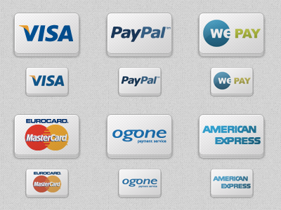 Paypsized Pack online payment providers payment cards icons pepsized freebie