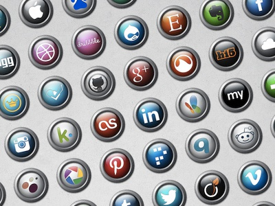 Social Orbs social icons freebies png